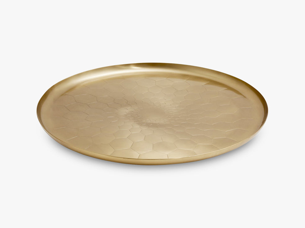 TRAY brass, hexagon, large fra Nordal
