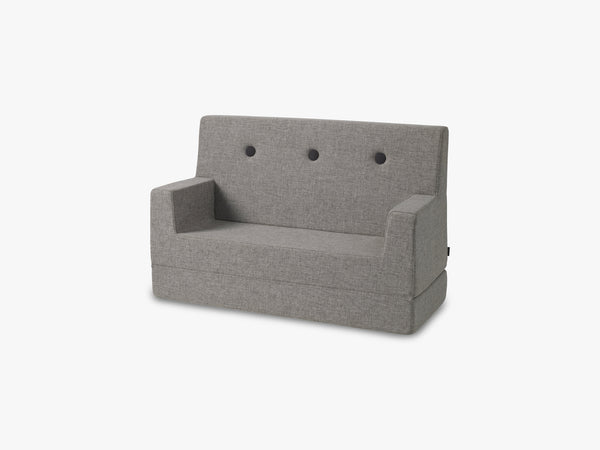 KK Kids Sofa, Multi Grey w. Grey button fra By KlipKlap