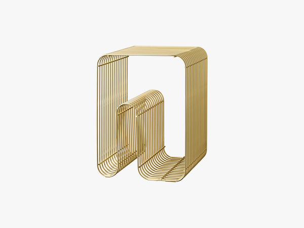 CURVA stool gold, one size fra AYTM