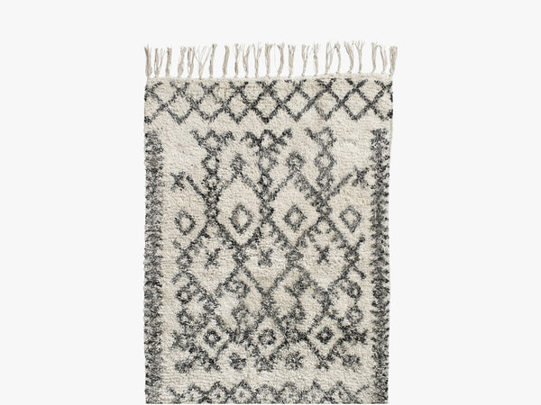 Carpet, Harlekin, off white/black fra Nordal