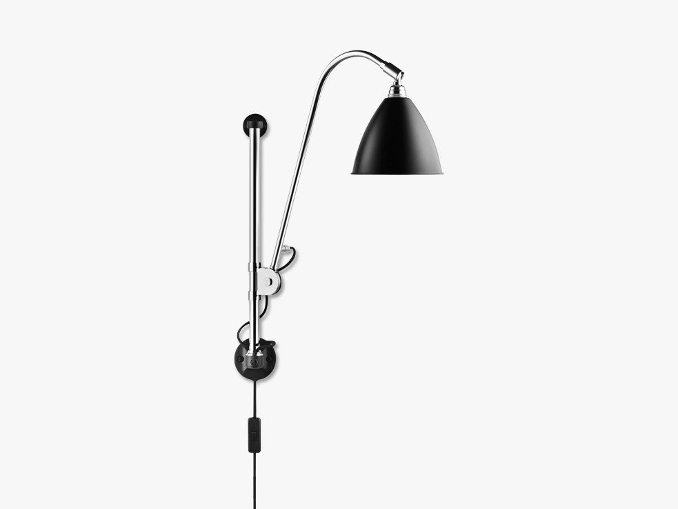 Bestlite BL5 Wall Lamp - Ø16 - Crome Base, Black fra GUBI