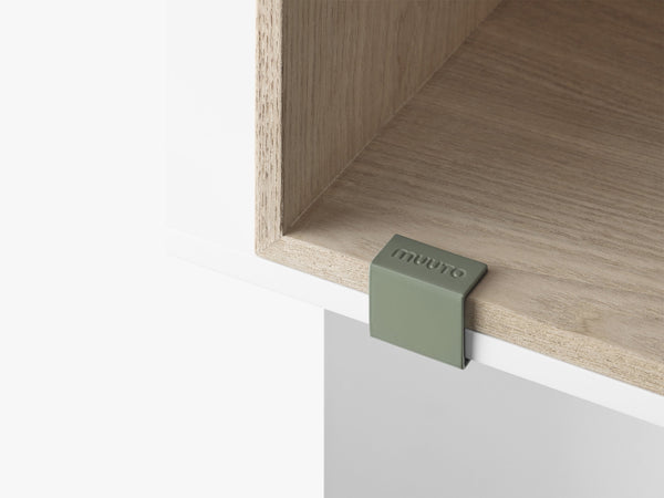 Mini Stacked Storage System / Clips Set, Dusty Green fra Muuto