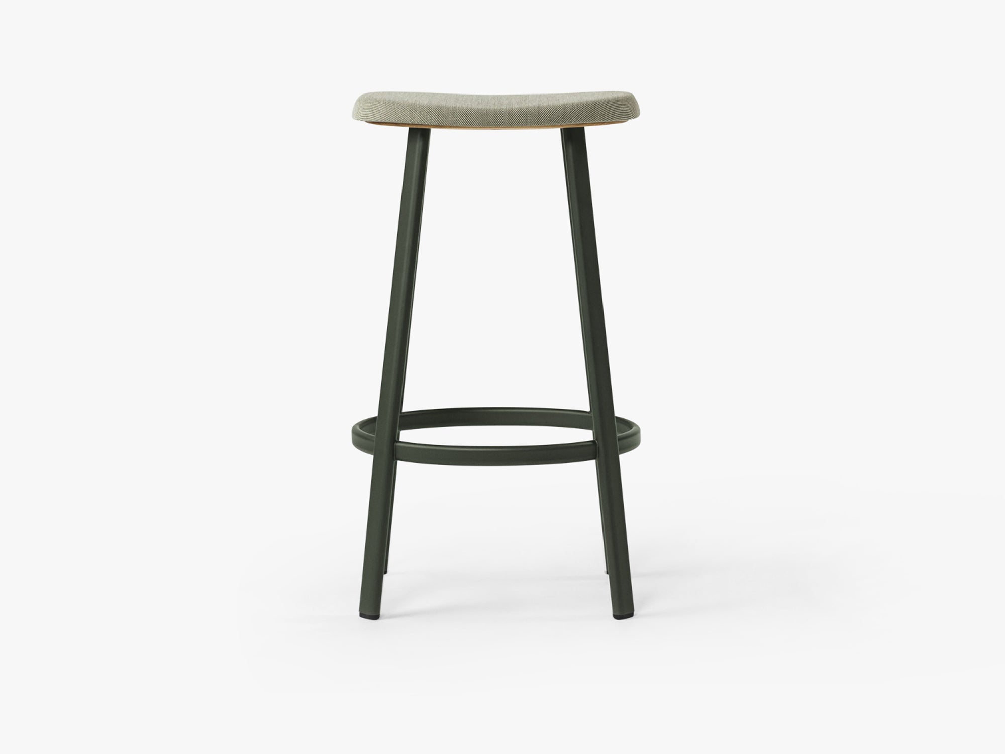 Anno Stool H75, Dark Green/Green Textile fra MILLION