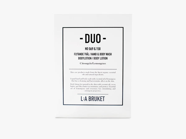 Duo-kit - Liquid Soap/Body Lotion - Lemongrass fra L:A Bruket
