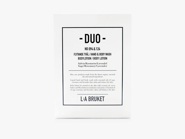Duo-kit - Liquid Soap/Body Lotion - Sage/Rosemary/Lavender fra L:A Bruket
