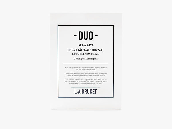 Duo-kit - Liquid Soap/Hand Cream - Lemongrass fra L:A Bruket