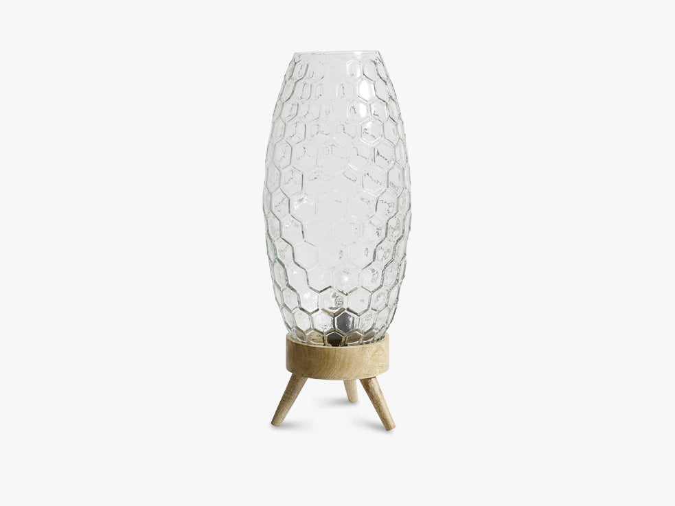 HEXAGON Table lamp, clear glass fra Nordal