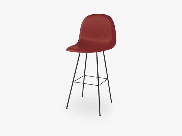 3D Bar Chair - Un-upholstered - 75 cm Center Black base, Shy Cherry shell fra GUBI