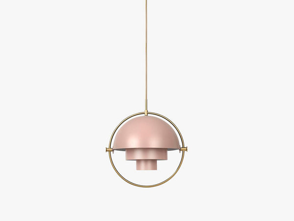 Multi-Lite Pendant - Ø36 - Brass Base, Rose Dust fra GUBI
