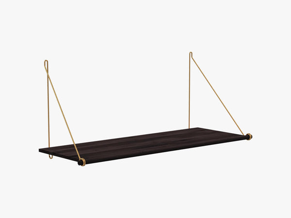 Loop Shelf Dark, Brass Mounting Bracket fra We Do Wood
