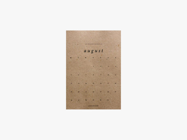 2019 Medium, Brown Kalendar fra the Brown Paper Movement