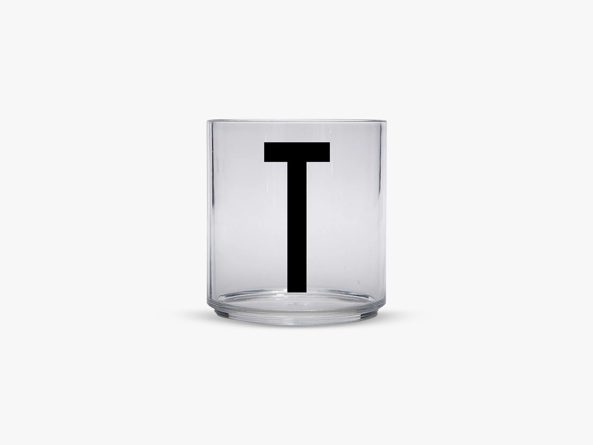 Kids personal drinking glas A-Z, T fra Design Letters