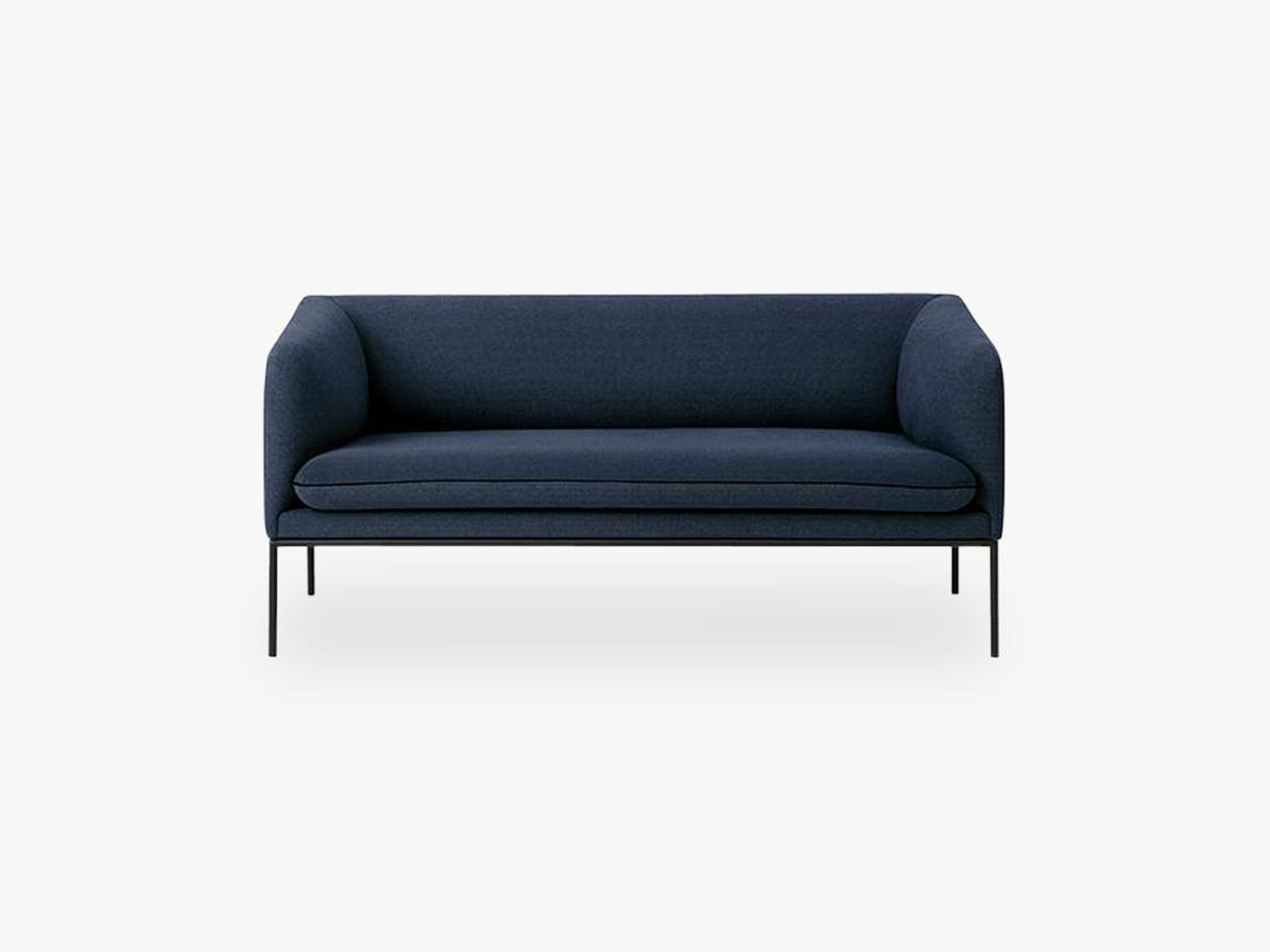 Turn Sofa 2 Fiord, Solid Dark Blue fra Ferm Living