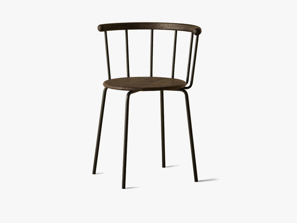 Babette Spisestuestol, Black Steel & Black Oak fra Eberhart Furniture