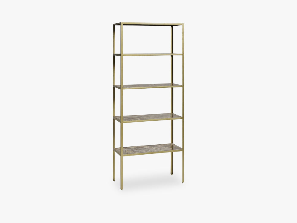 JUNGLE rack, marble,5 shelves, antgold fra Nordal