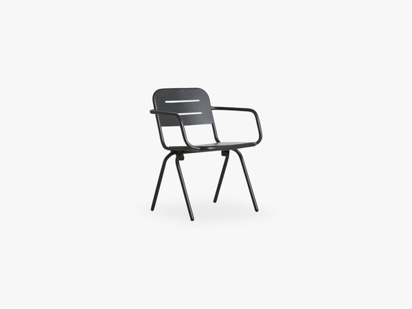 Ray Dining chair, Charcoal Black fra WOUD