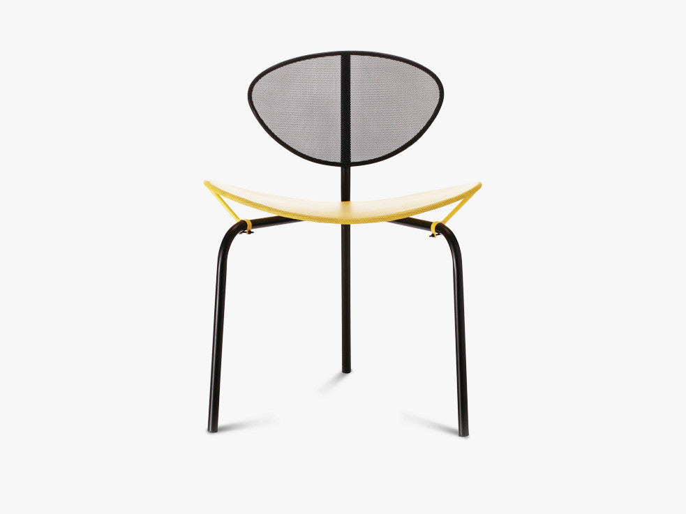 Nagasaki Dining Chair - Midnight Black, Venetian Gold top fra GUBI