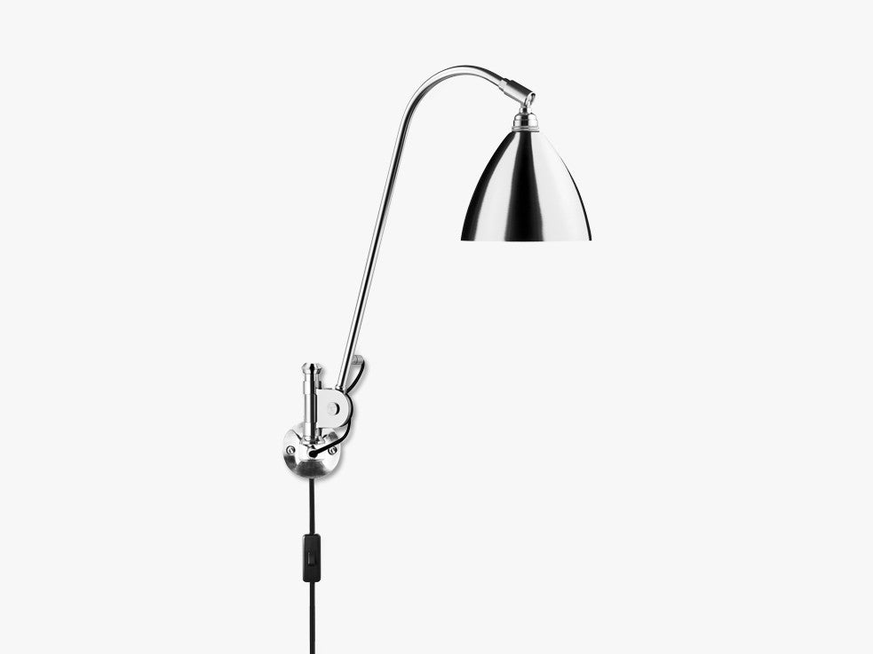 Bestlite BL6 Wall Lamp - Ø16 - Crome Base, All Crome fra GUBI