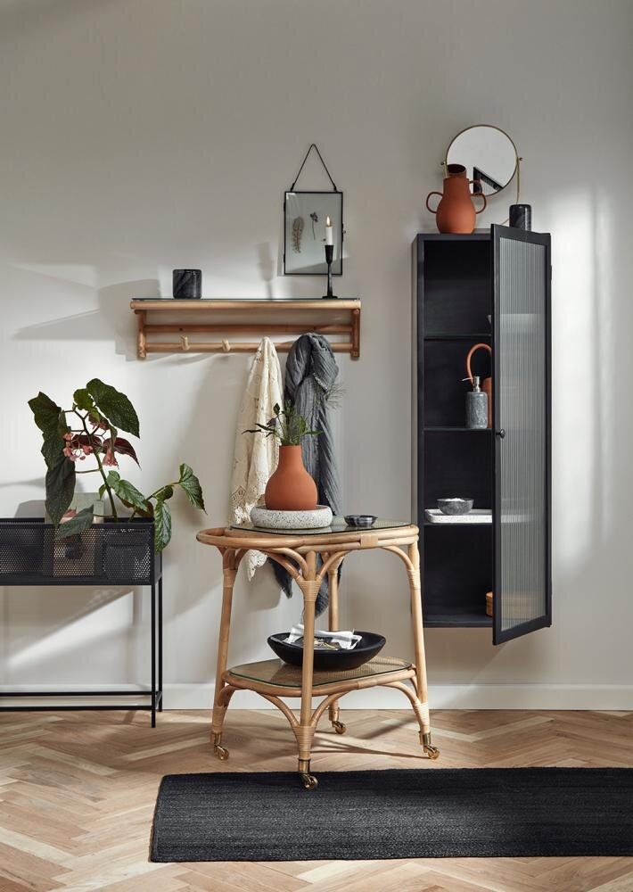 Wall cabinet, black tall, 1 door, groovy fra Nordal