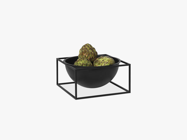 Kubus Bowl centerpiece large, black fra By Lassen