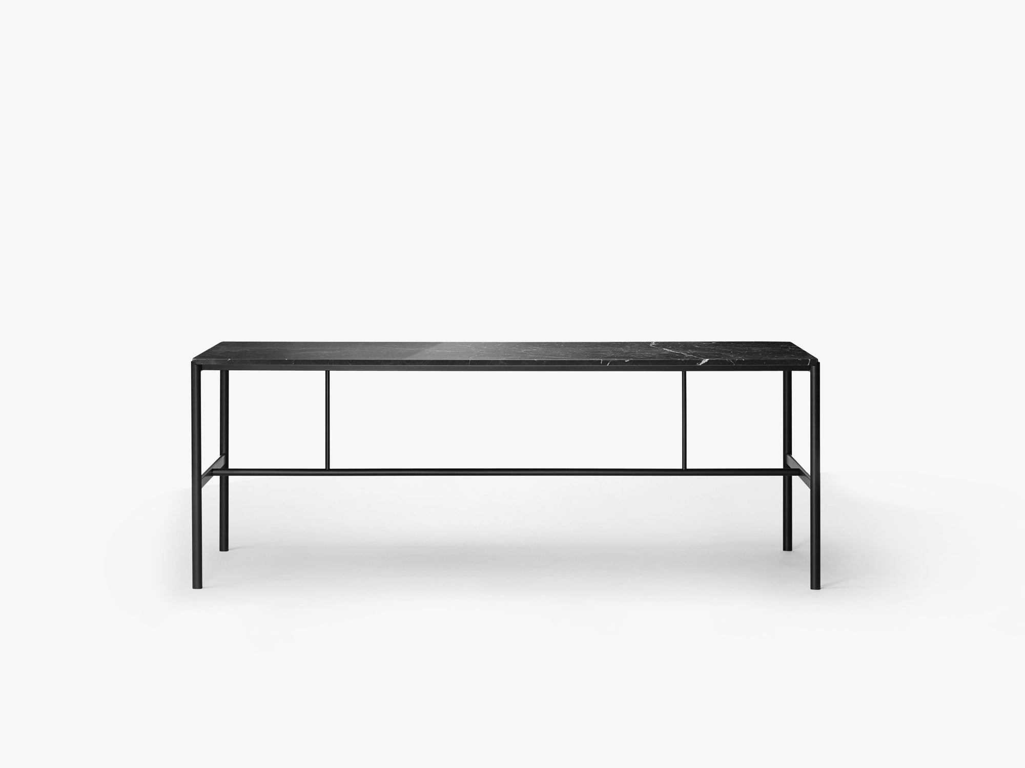 Mies Dining Table M1, Black/Black Marble Marquina fra MILLION