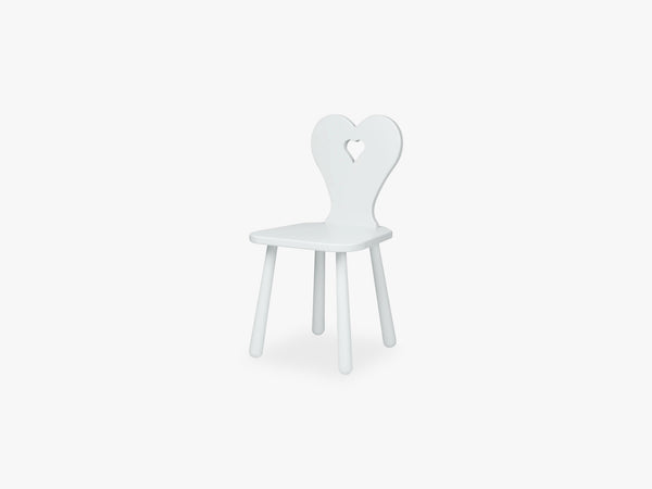 Heart Kids Chair, Classic Grey fra Cam Cam Copenhagen