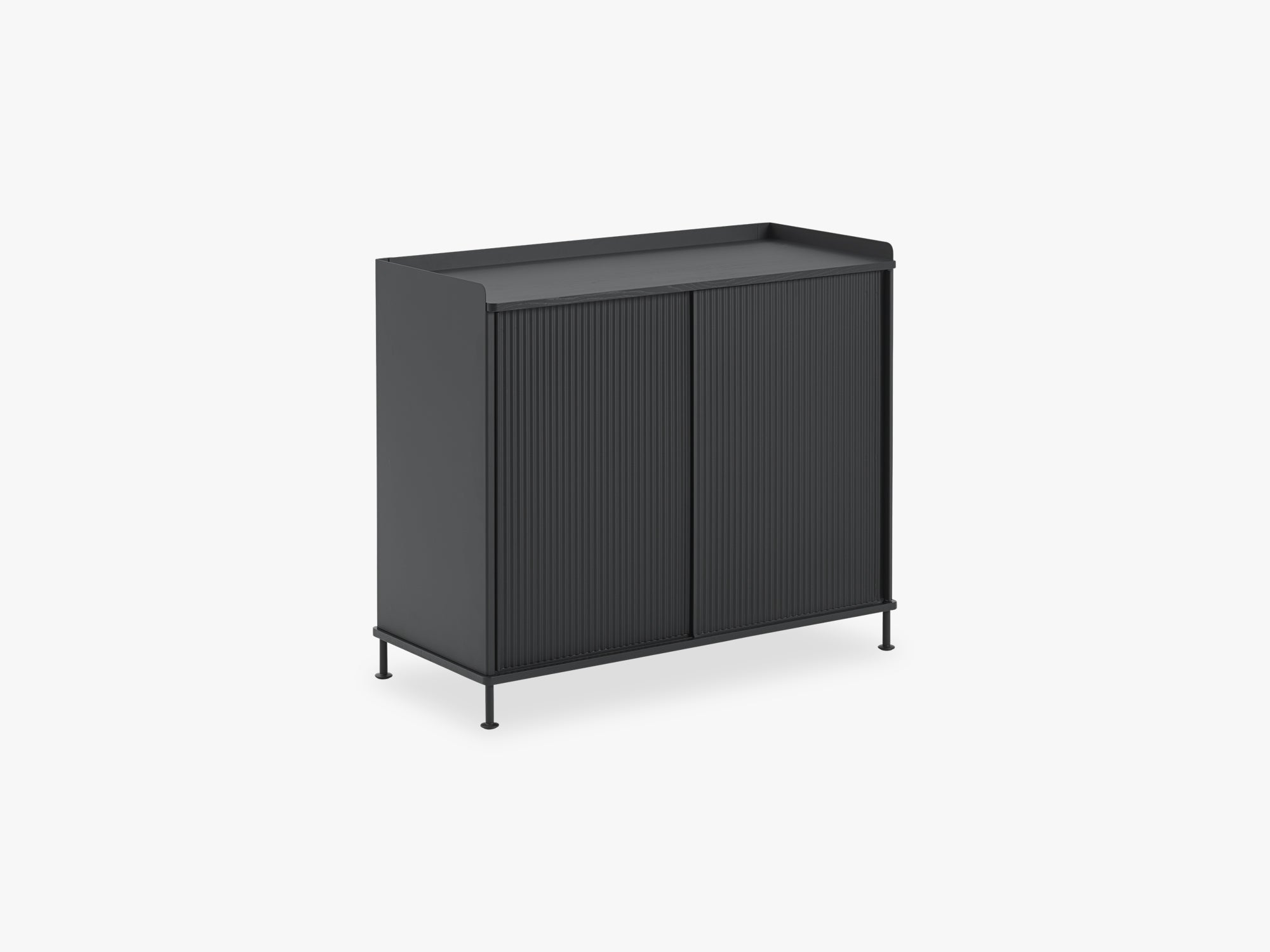 Enfold Sideboard - Tall, Black/Black fra Muuto