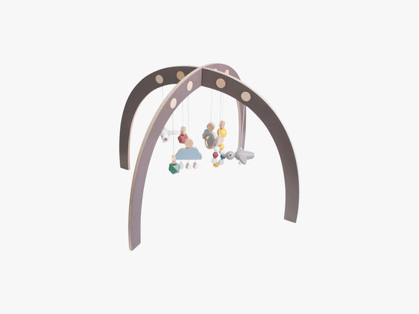 Aktivitetscenter - Baby gym, Warm Grey fra Sebra