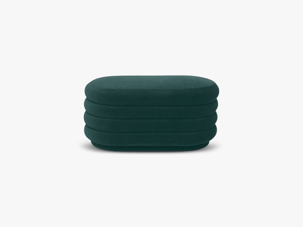 Pouf Oval Medium, Green fra Ferm Living