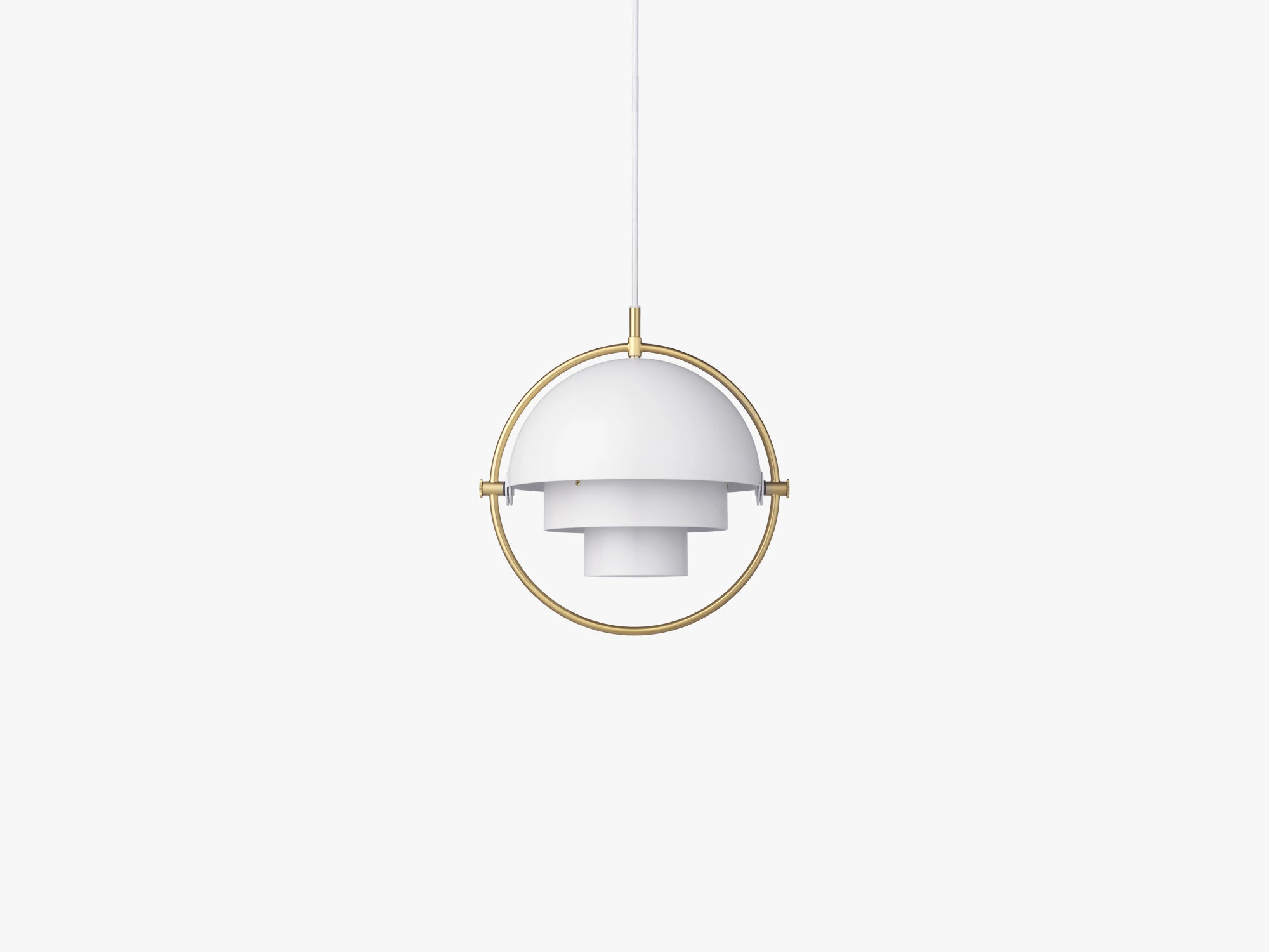 Multi-Lite Pendant - Small, Brass/White Semi Matt fra GUBI