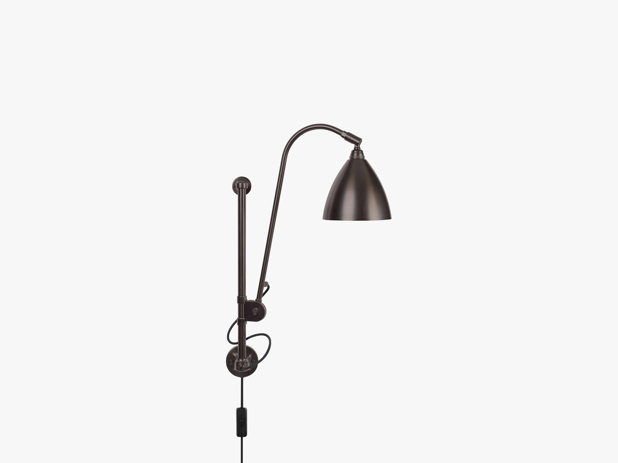 BL5 Wall Lamp - Ø16 Black Brass, Black Brass fra GUBI