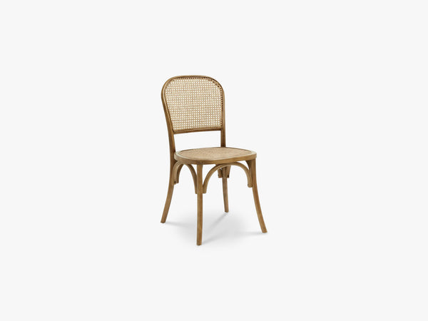 WICKY chair w wickerwork,  brown fra Nordal