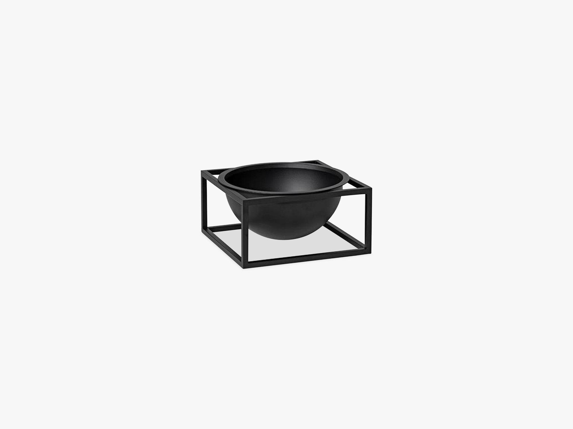 Kubus Bowl centerpiece small, black fra By Lassen