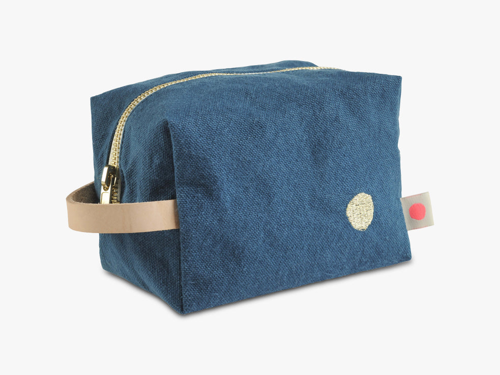 IONA Cube Toiletry Bag, Peacock fra La Cerise Sur Le Gateau