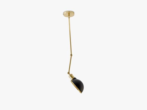 Hudson Ceiling/Wall Lamp, Black/Brass fra Menu
