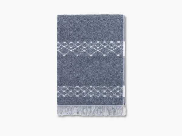 Path towel, melange midnight blue fra Elvang