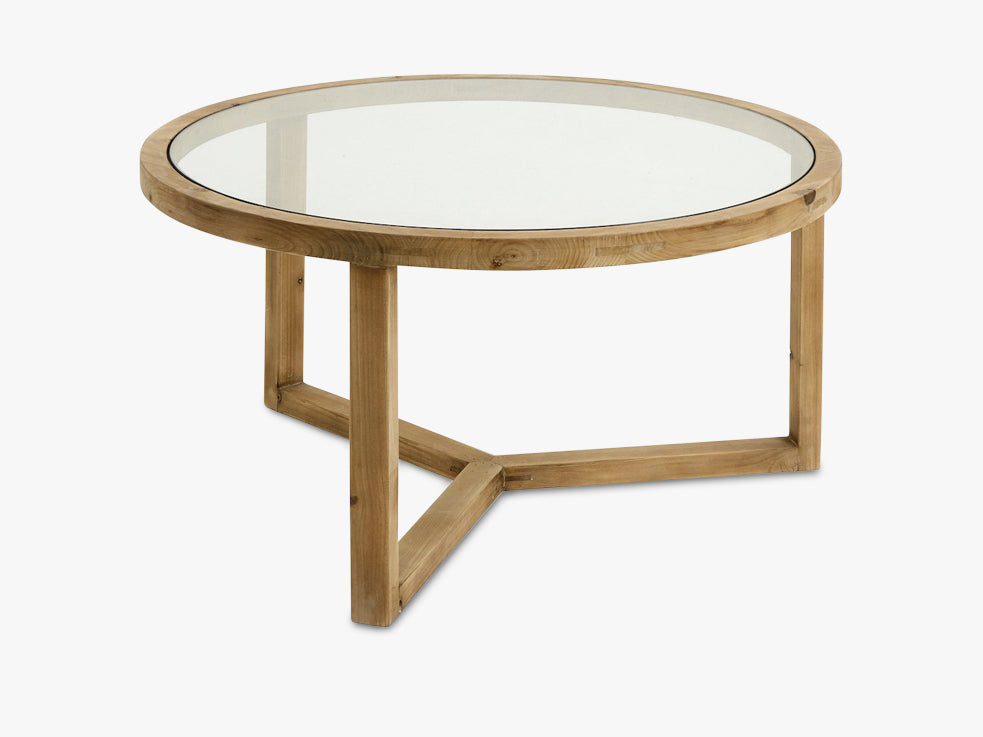 Natural coffee table, wood/glass fra Nordal