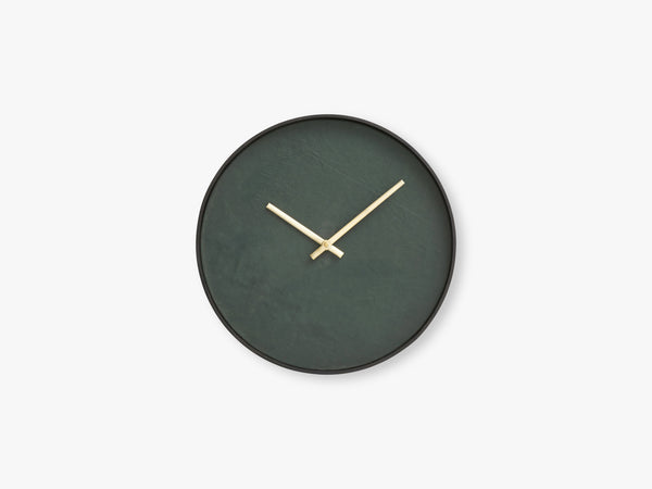 Wall clock round, dark green/black frame fra Nordal