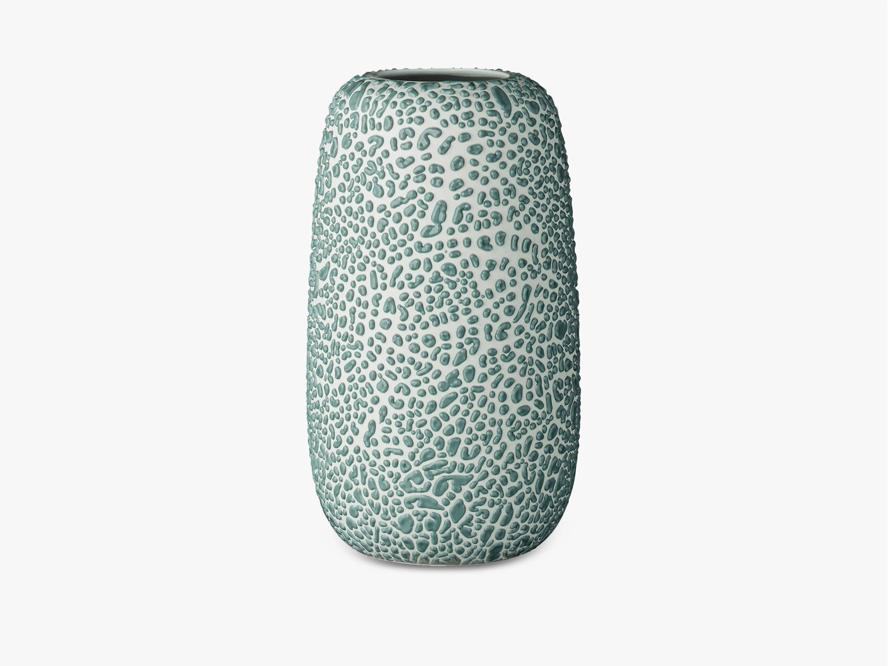 Dotted Glaze Vase - Dusty Blue - Large fra AYTM