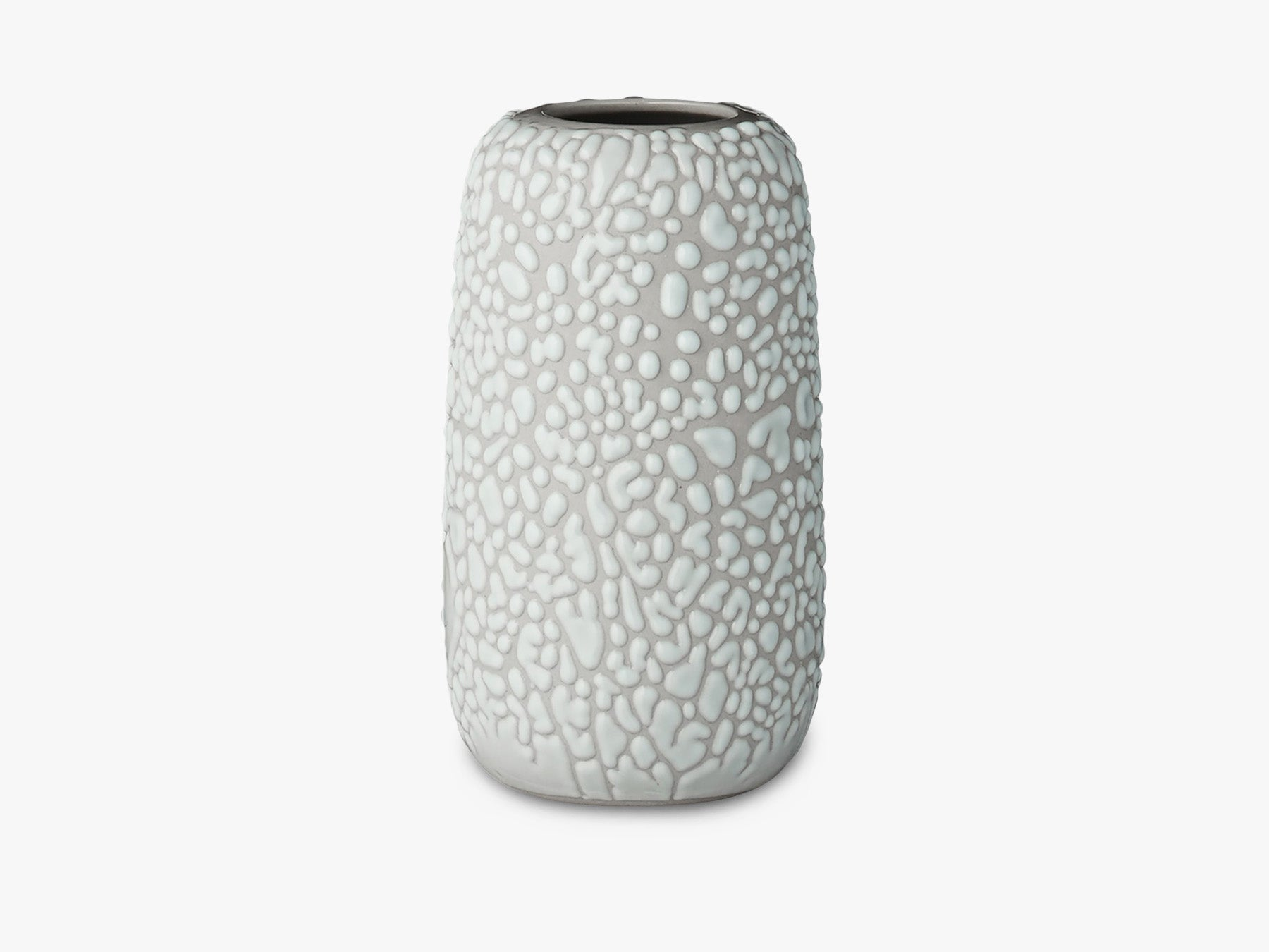 Dotted Glaze Vase - Light Grey - Small fra AYTM