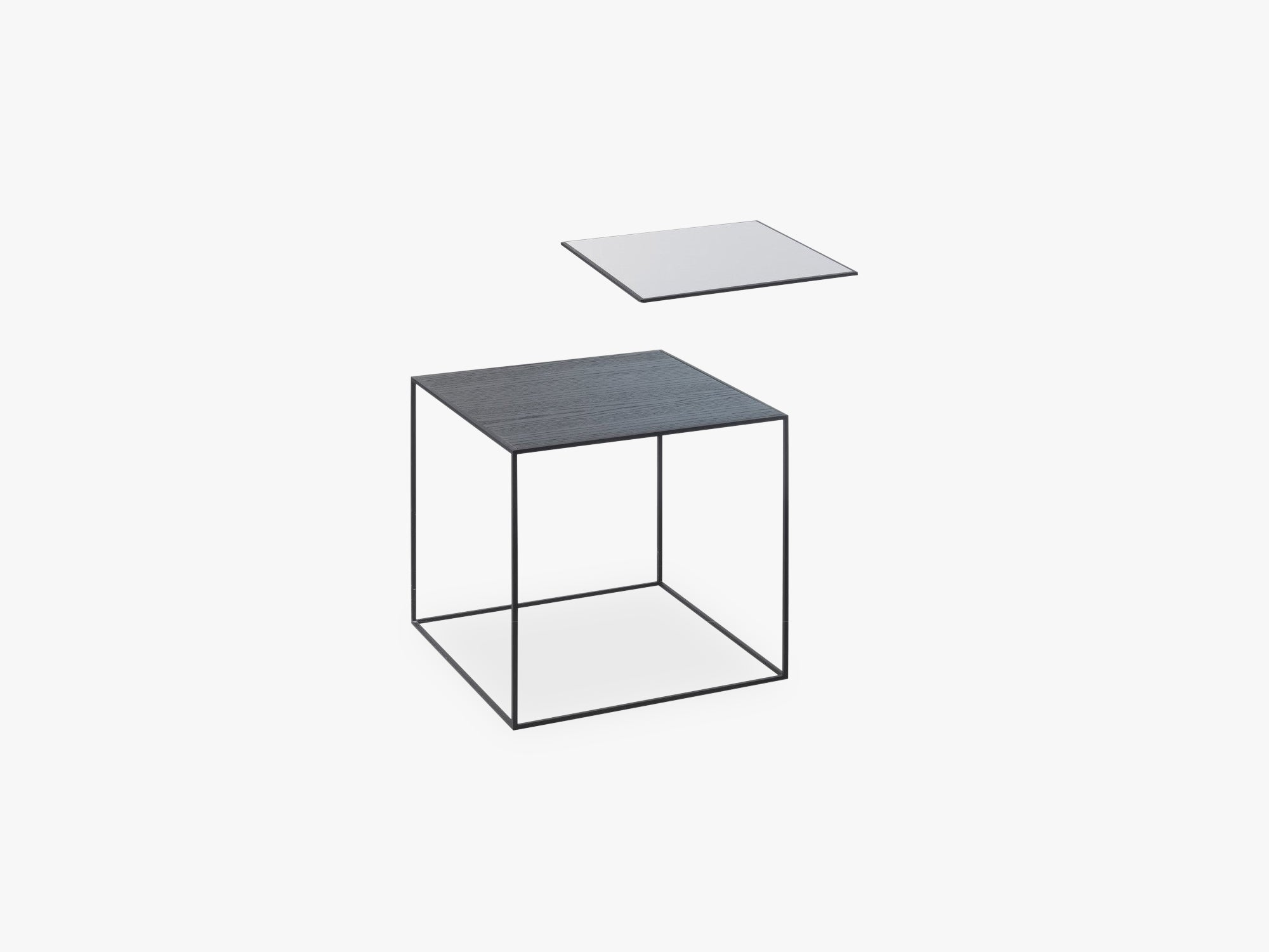 Twin 35 table, black, black/cool grey fra By Lassen