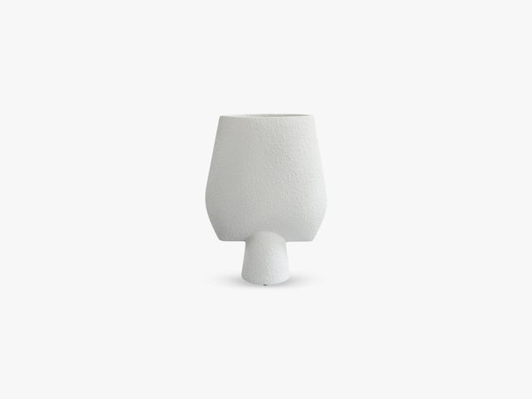 Sphere Vase Square, Big, Bubble White fra 101 Copenhagen
