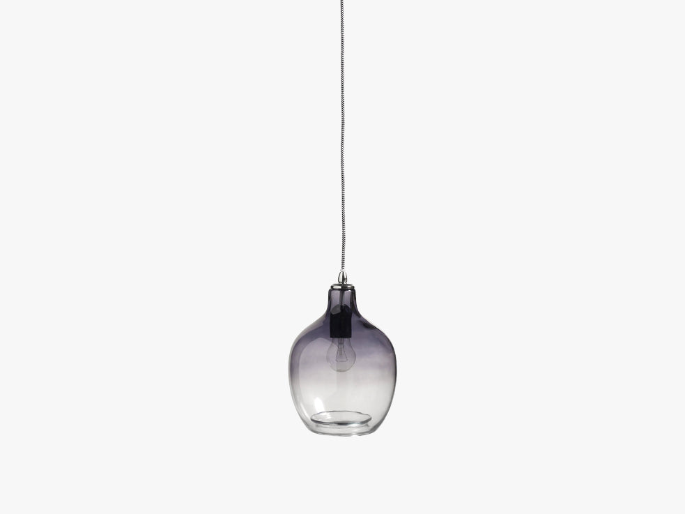 BUBBLE glass lamp, smoke, h-26 cm fra Nordal