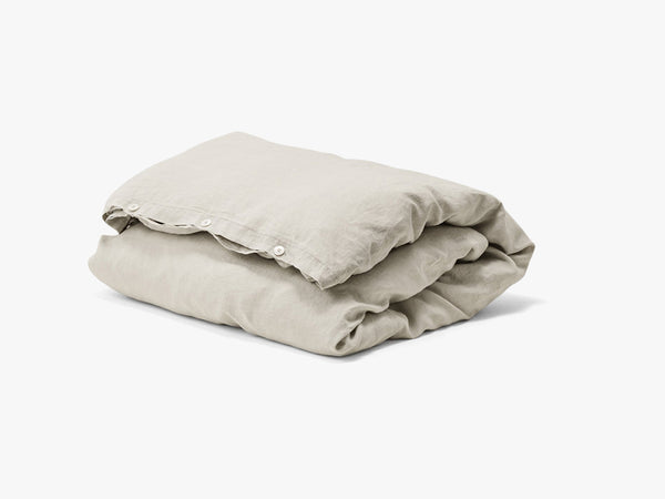 Duvet Cover Linen, Sand grey single fra Tekla Fabrics