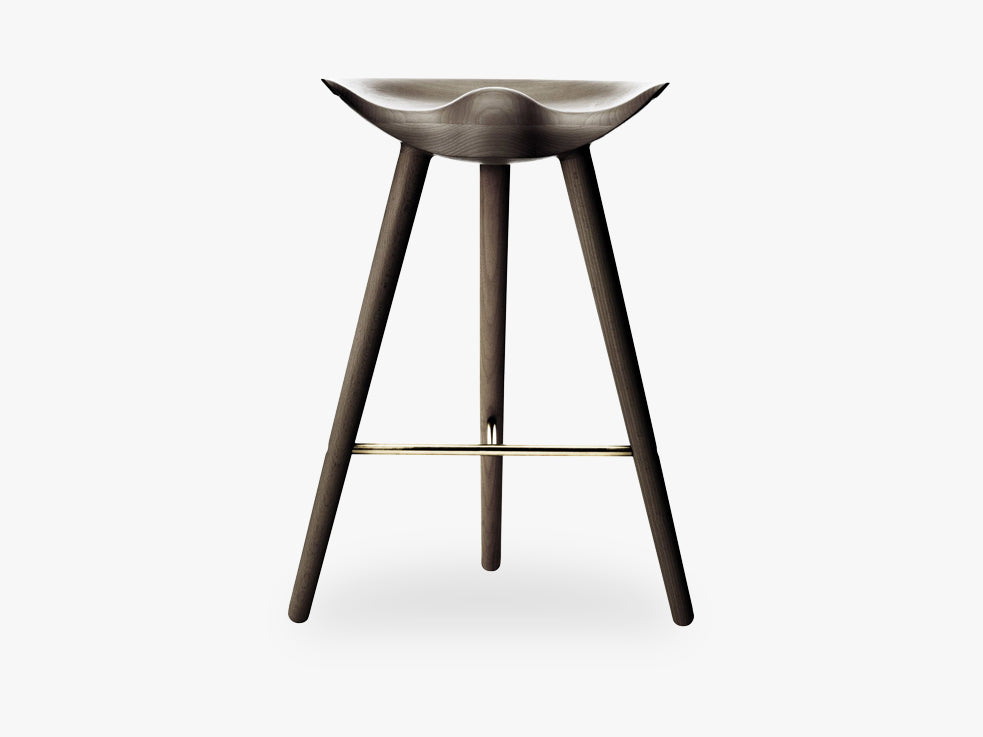ML 42, counter stool, brown oiled oak / brass fra By Lassen