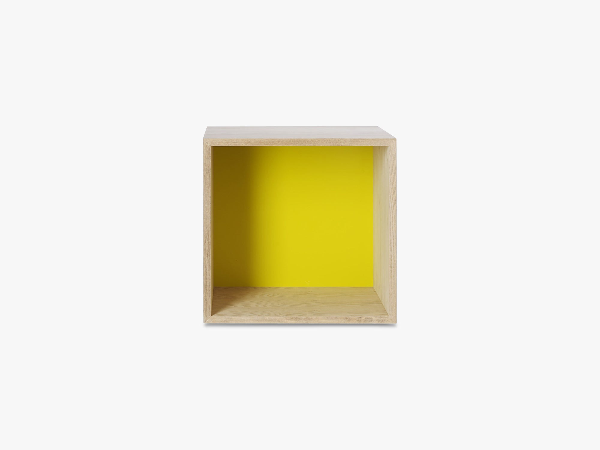 Mini Stacked Storage System, Medium - Ash/Yellow Backboard fra Muuto