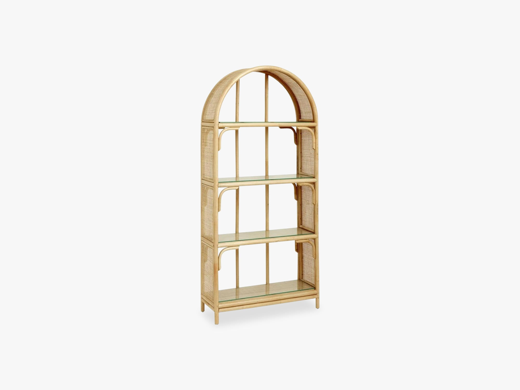 ARCH rattan book case w/glass shelves fra Nordal