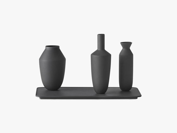 Balance Vase Set / Set Of 3 Vases, Black fra Muuto