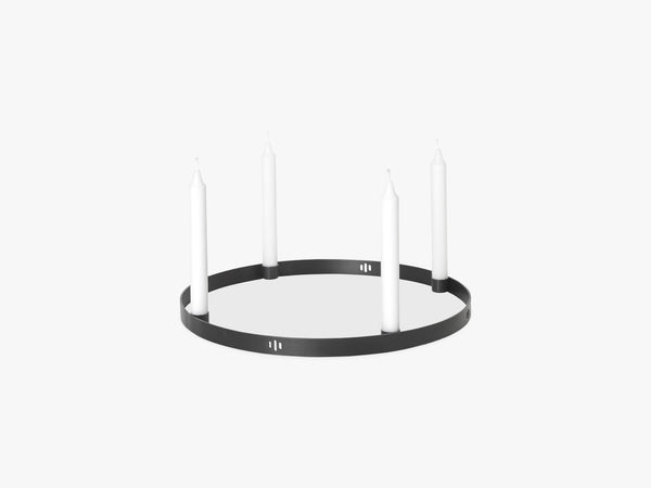 Candle Holder Circle Large, Black Brass fra Ferm Living