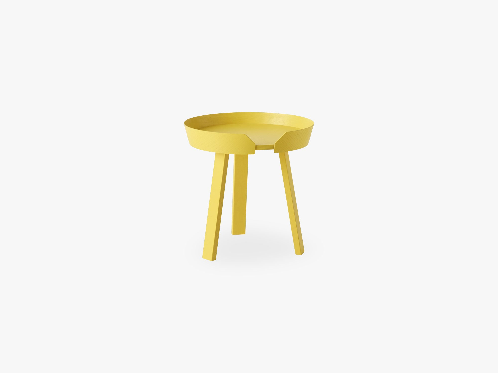 Around Coffee Table - Small, Yellow fra Muuto
